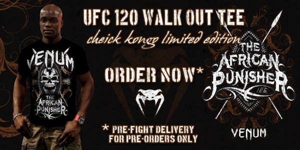 Cheick Kongo UFC 120 Walkout Limited Edition