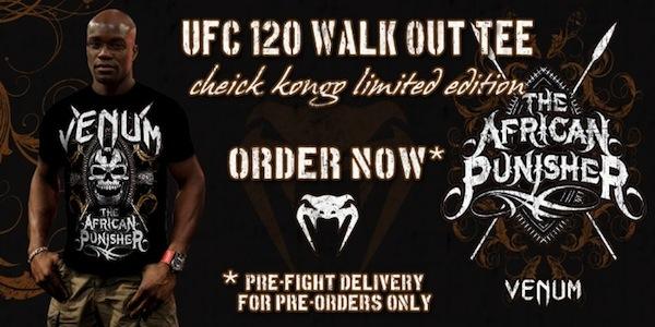 Cheick Kongo UFC 120 Walkout Limited Edition